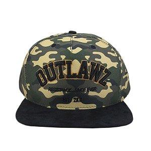 Boné Outlawz Snapback Camu Resistance