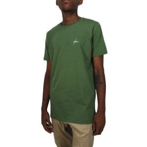 Camiseta Outlawz Long Line Signature-Verde Militar