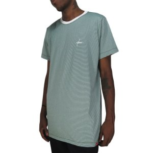 Camiseta Outlawz Long Line Signature Stripes-Verde