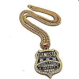 Cordão Hip Hop Mode Gangsta Money Power Respect