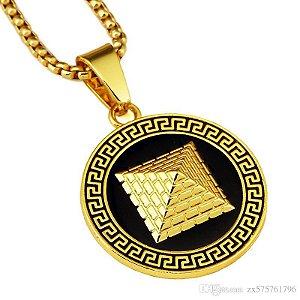 Cordão Hip Hop Mode Gold Pyramid