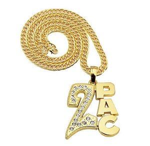 Cordão Hip Hop Mode 2 Pac Gold