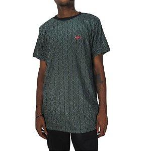Camiseta Outlawz Long Line Ethnic-Verde