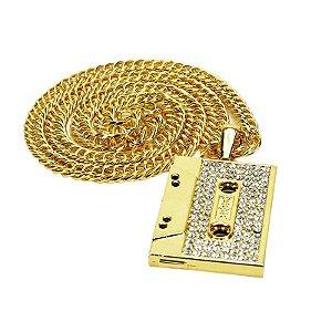 Cordão Hip Hop Mode K-7 Gold