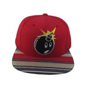 Boné The Hundreds Snapback Adam Bomb-Vermelho