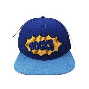 Boné Hocks Snapback Quadrinhos-Azul