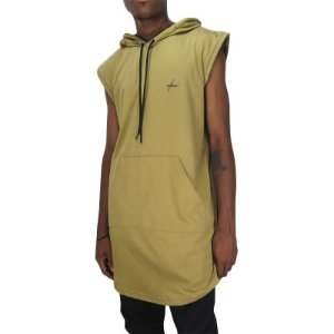 Camiseta Outlawz LongLine Hood-Marfim