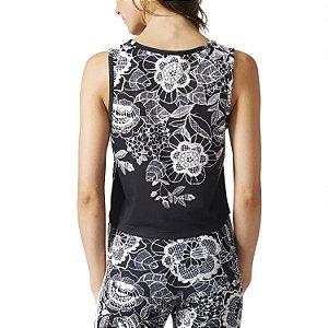 Camiseta Adidas x Farm Folgada Crop Florido