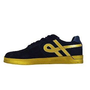 Tênis Ous Ueno Azul e Dourado Essencial