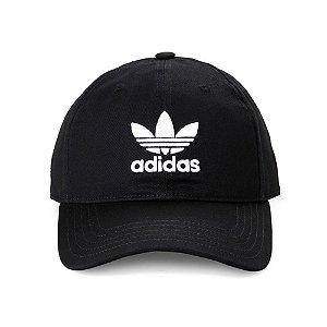 Boné Adidas Trefoil Aba Curva - Preto