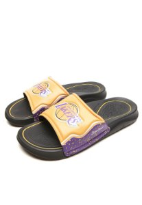 Chinelo Slide Rider Infinity NBA Gaspea Los Angeles Lakers Preto