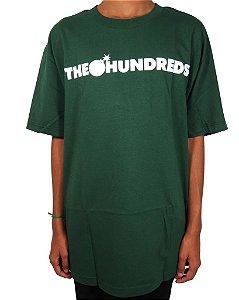 Tshirt (Importada) The Hundreds - Forever Bar Logo - Forest Green
