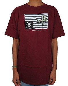 camiseta Rook Brand Flag - Burgundy