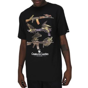 Camiseta Crooks & Castles-Birds Of Prey-Preta