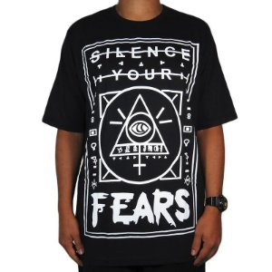 Camiseta Outlawz Silence Your Fears-Preta