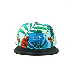 Boné Outlawz Snapback-Flowers Blue