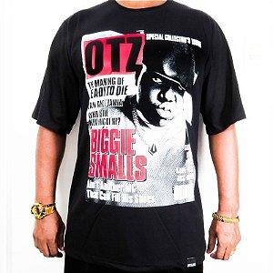 Camiseta Outlawz Magazine Biggie Small-Preta