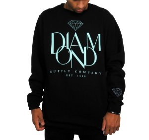 Agasalho Diamond Supply Paris Crewneck - Black