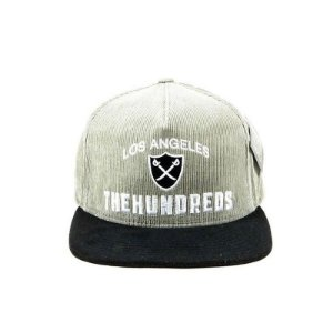 Boné The Hundreds Strapback-Camurça Cinza