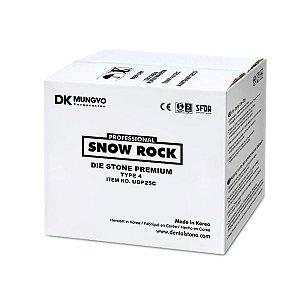 GESSO SNOW ROCK PREMIUM BRANCO|WHITE|25KG|TIPO 4|MODELO|TROQUEL|ODONTOMEGA