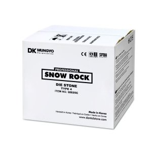 GESSO SNOW ROCK DIE STONE MARFIM|IVORY|25KG|TIPO 4|MODELO|TROQUEL|ODONTOMEGA