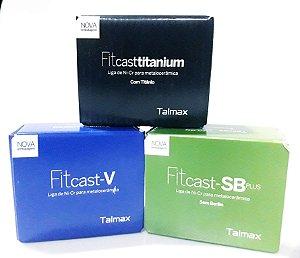 FITCAST KG (4cx 250gr) NiCr|SB,V ou TITANIUM(LIGUE E ESCOLHA)|FUNDIÇÃO|LIGA METALICA|PROTESE FIXA|TALMAX