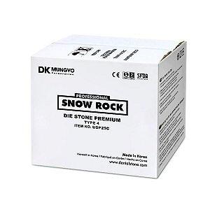 GESSO SNOW ROCK PREMIUM MARFIM|IVORY| 25KG|TIPO 4|MODELO|TROQUEL|ODONTOMEGA