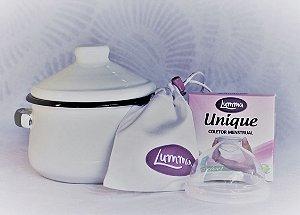 Coletor Menstrual UNIQUE Lumma + Panela Esterilizadora