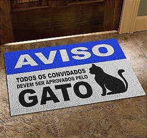 Capacho Vinil Aprovados Pelo Gato