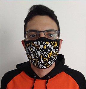 Máscara de Tecido Harry Potter - Reutilizável