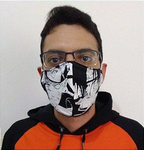 Máscara de Tecido Naruto e Sasuke Reutilizável