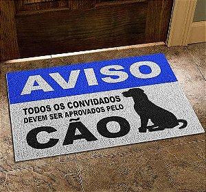 Capacho Vinil Aprovados Pelo Cão