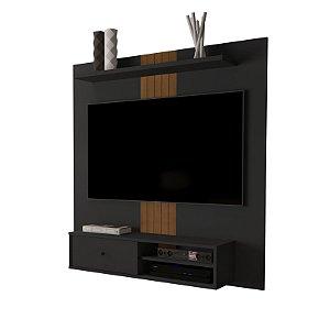 Painel de TV até 55 Polegadas - Preto Fosco - Suporte de Tv Incluso