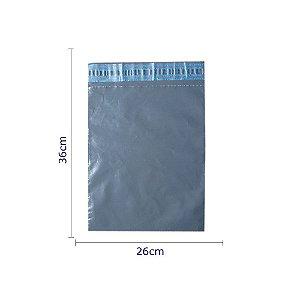 Envelopes de segurança na cor cinza. Dimensões 26 cm x 36 cm - Pacotes com 100 unidades - Material reciclado.