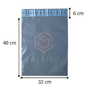 Envelopes de segurança para ecommerce 32 cm x 40 cm - Pacotes com 100 unidades - Material reciclado.