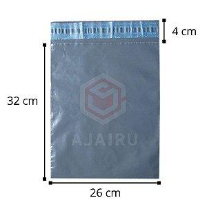 Envelopes de segurança para ecommerce 32 cm x 26 cm - Pacotes com 100 unidades - Material reciclado.