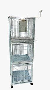 Canil zincado para 3 animais
