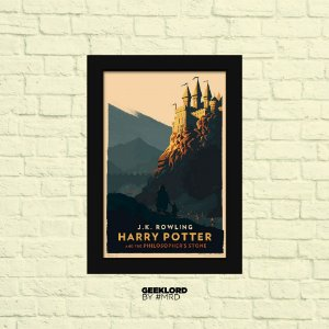 QUADROS DECORATIVOS A3 - HARRY POTTER - WORLD WIZARD