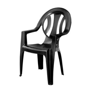 Cadeira de Plástico Arcos Preta
