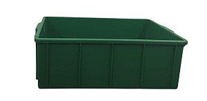 Caixa Plástica Fechada 36 Litros Verde