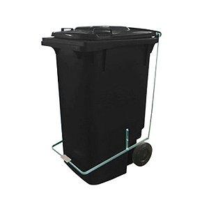 Containers de lixo c/ Rodas e Pedal 240 Litros