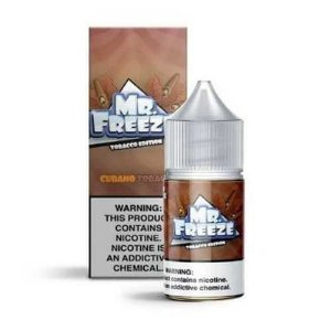 Líquido Mr. Freeze Salt - Tobacco Edition - Cubano Tobacco