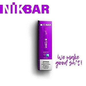 Pod descartável NikBar - Grape Ice