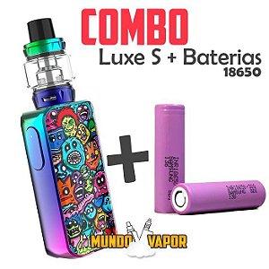COMBO VAPE - 1 Kit Luxe S 220w + 2 baterias 18650