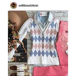 Blusa de tricot escocesa