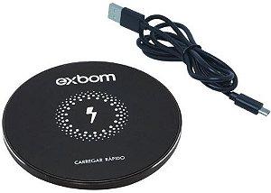 Carregador Wireless Sem Fio Qi Bateria Tqi-f18 - EXBOM