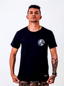 Camiseta Black Blue Preta Tamanho M