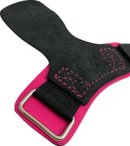 Hand Grip Couro Rosa Neon