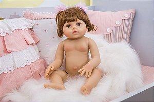 Bebê Reborn Júlia toda em silicone pode dar banho - Pronta entrega