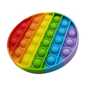 Pop It Fidget Redondo Toys Brinquedo Anti Stress Sensorial Colorido_ml